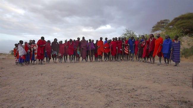 Masai community members Amboseli