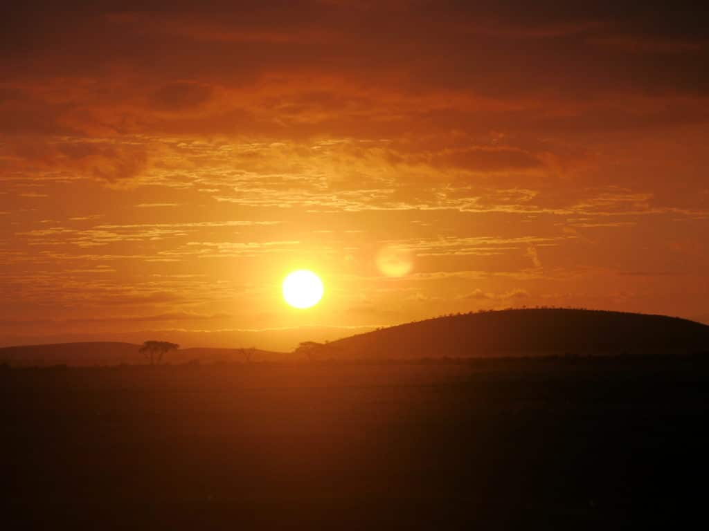 Sunrise on the Maasai Mara