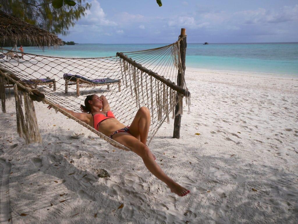 The beach at The Manta Resort