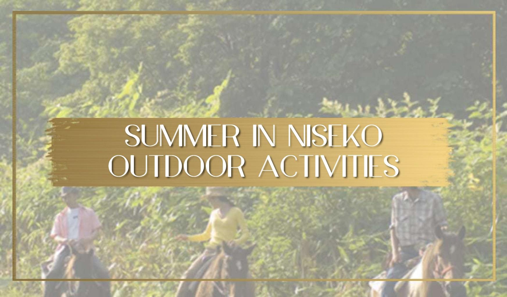 Summer in Niseko Japan main