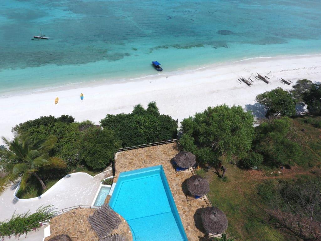 The pool at The Manta Resort