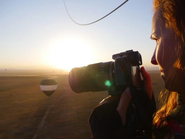 Behind the scenes on a hot air balloon over the Maasai Mara