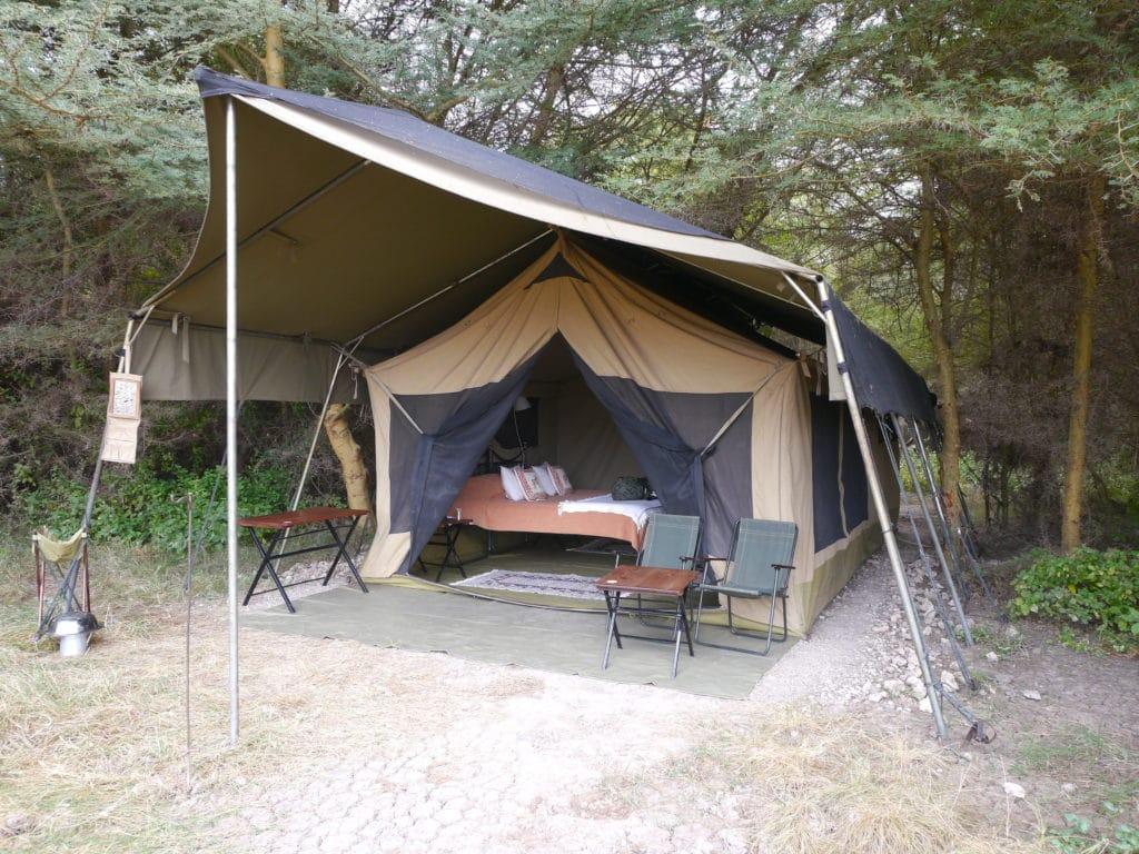 Tented mobile safari camp