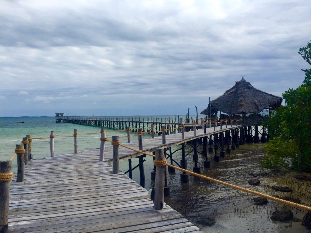 The jetty at Fundu Lagoon in Pemba