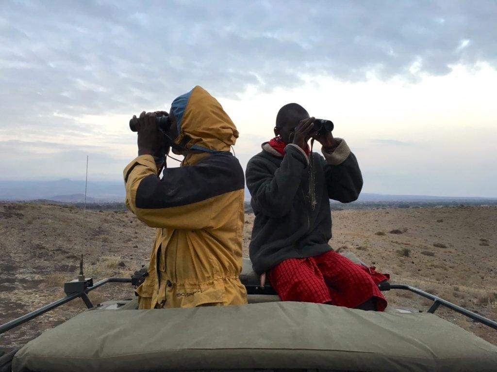 My two Maasai guides in Amboseli
