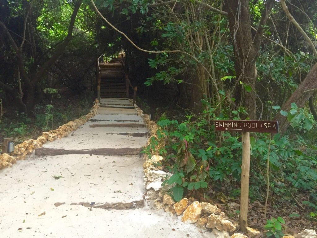 Path to the pool at Fundu Lagoon on Pemba