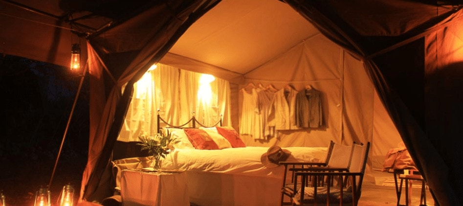 Mobile tented safari