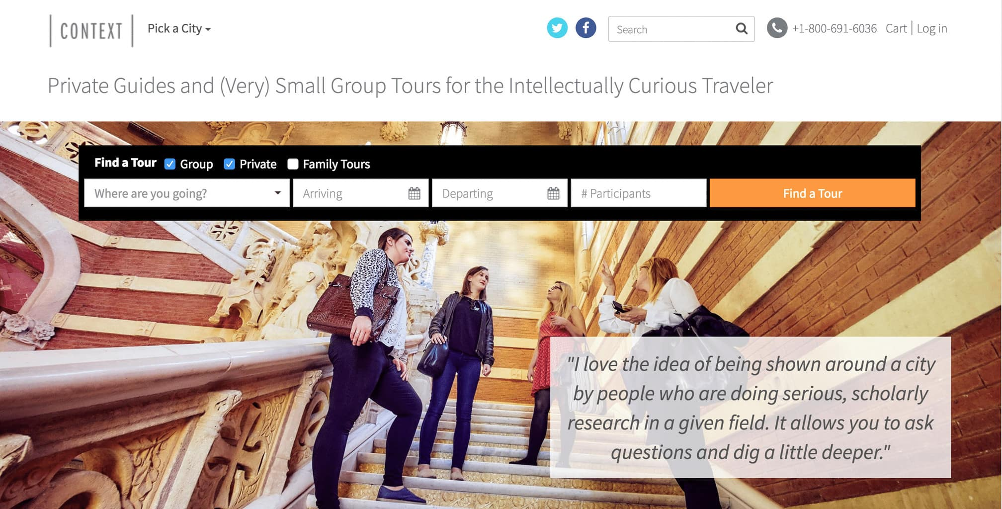 Context Travel website