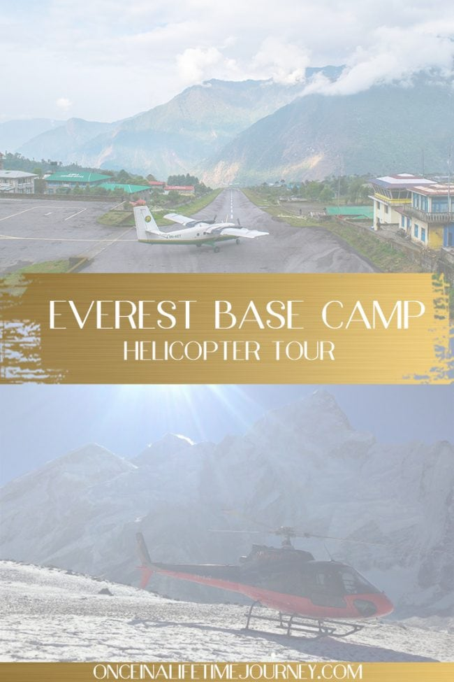 Everest base camp helicopter tour pin