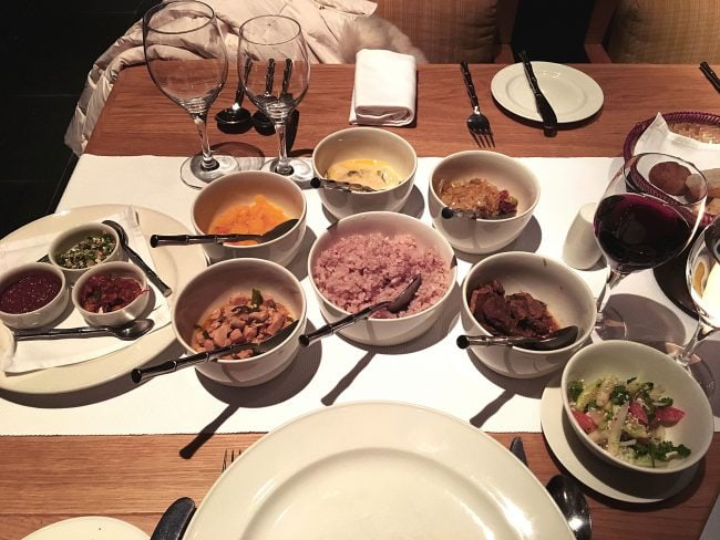 Bhutanese feast