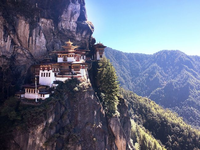 Tiger's Nest from the start of the stairs