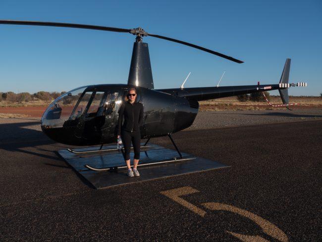 Helicopter sunrise ride
