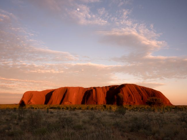 Sunrise over Uluru Ayers Rock