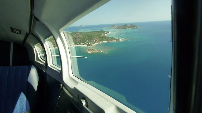 Light aircraft to Lizard Island