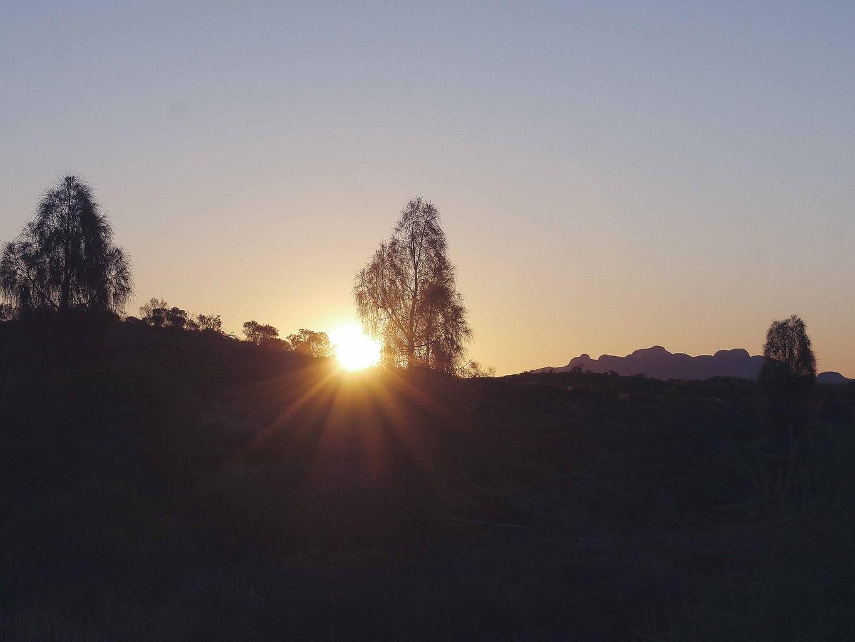 Sunset over Kata Tjuta