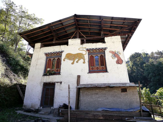 House paintings in Bhutan