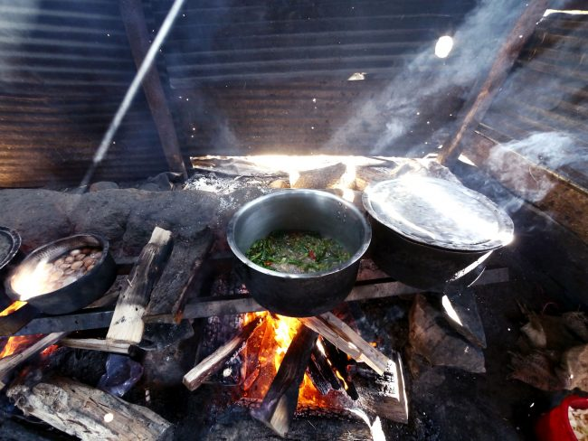 Cooking lunch for the monks in Gangtey