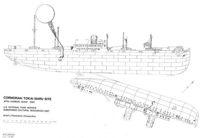 Cormoran II and Tokai Maru Wreck