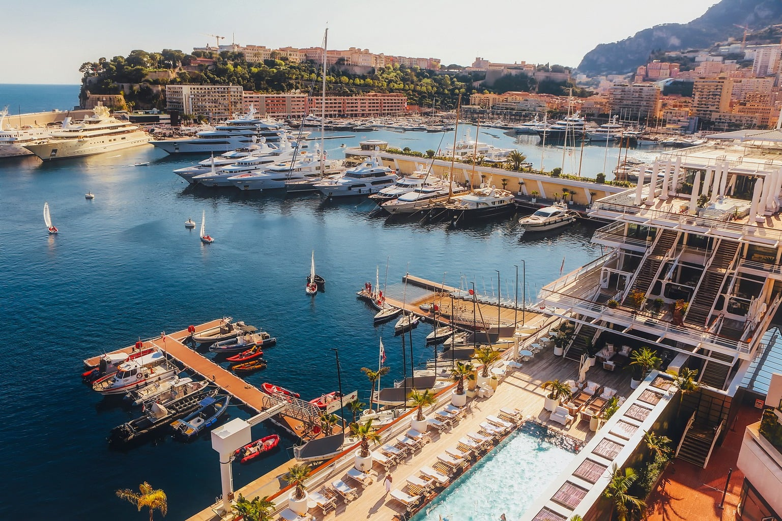 Monaco Yacht Club pool