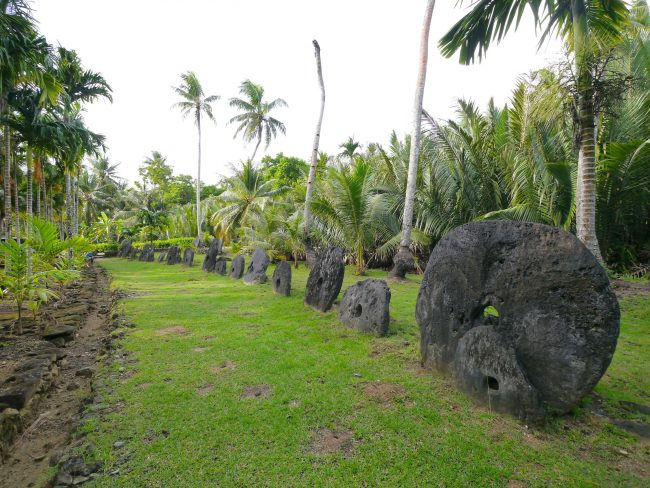 Stone Money bank in Yap