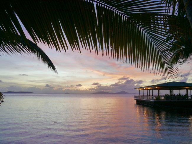 Sunset on Blue Lagoon resort Chuuk