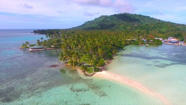 Chuuk aerial photo for Interesting facts about Micronesia
