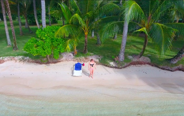 Beach at Blue Lagoon Resort in Chuuk