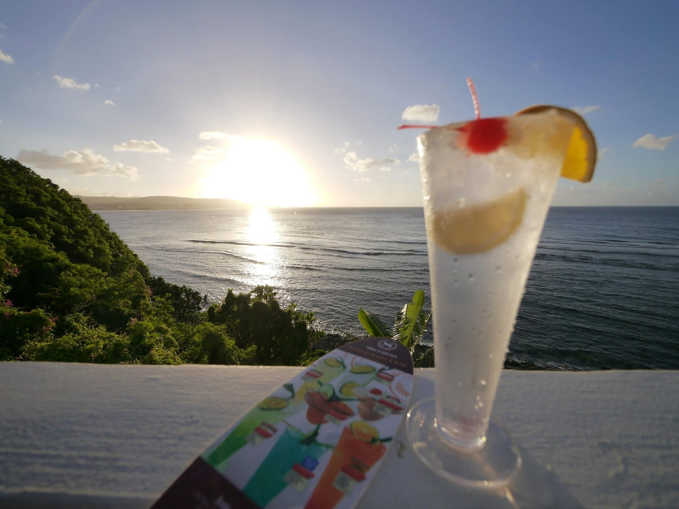 Sundowner cocktails at the Sheraton Guam