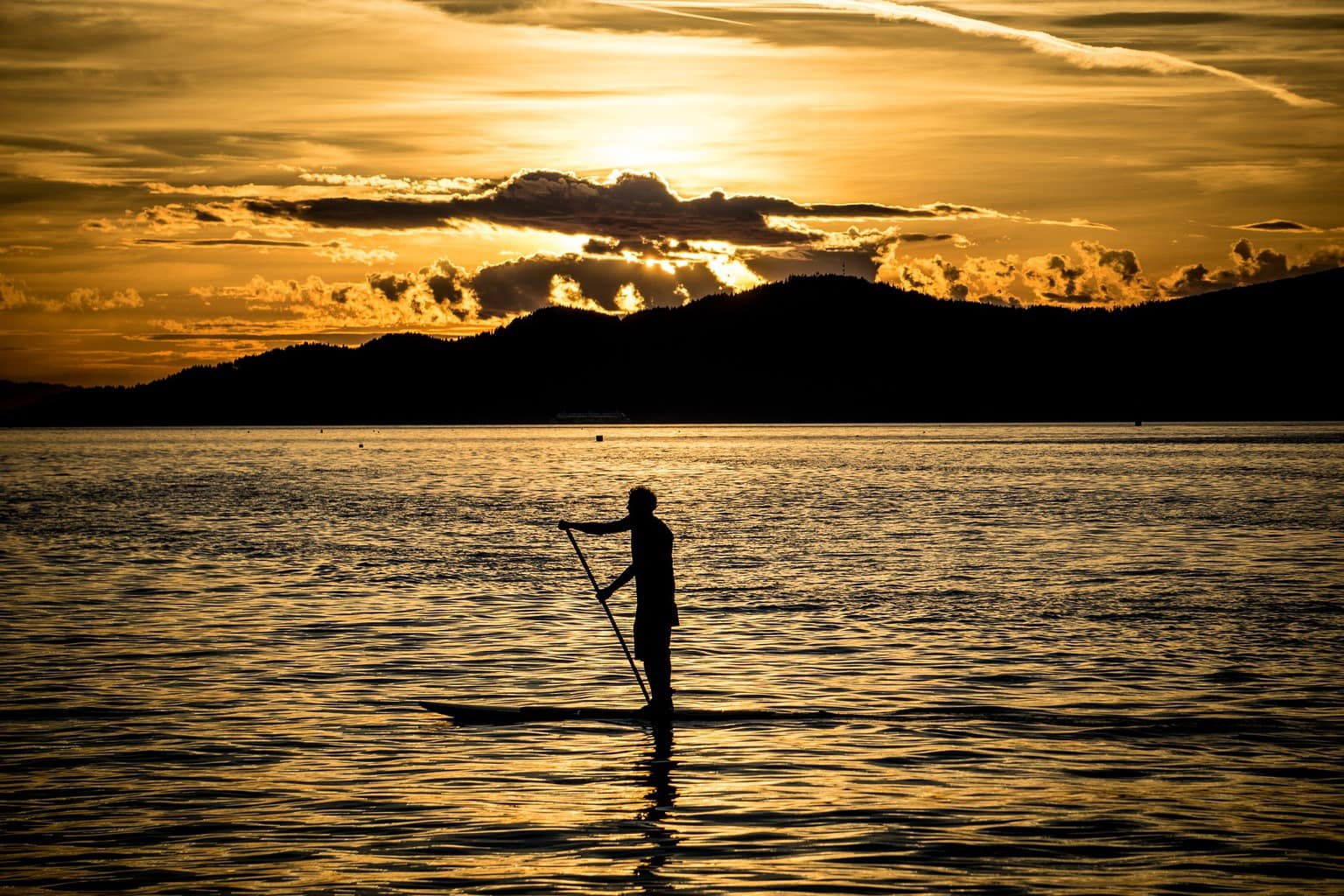 Standup paddle to burn off calories while traveling