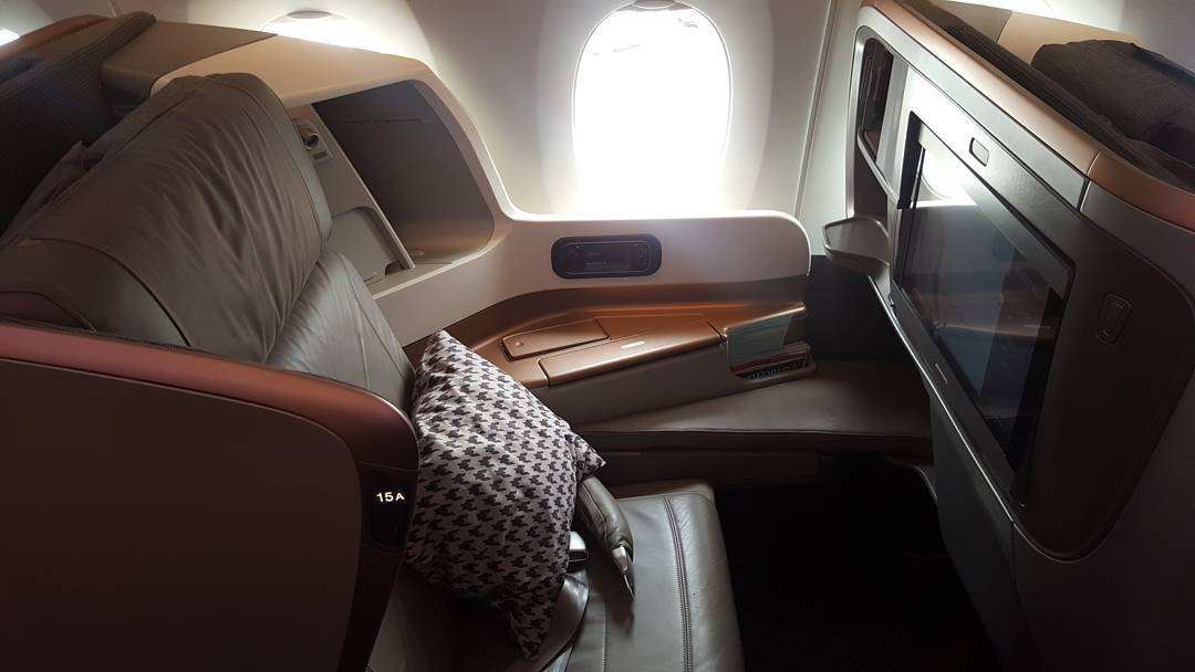 The seat on the A350 Business Class