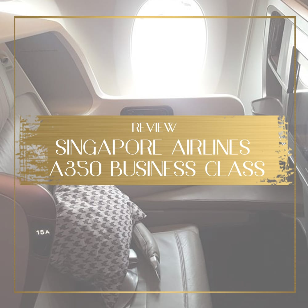 Singapore Airlines A350 feature