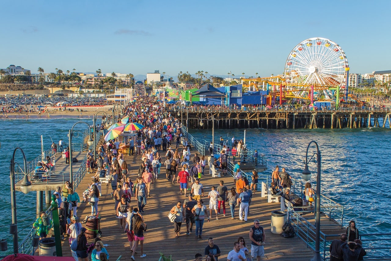 The always bustling Santa Monica Pier