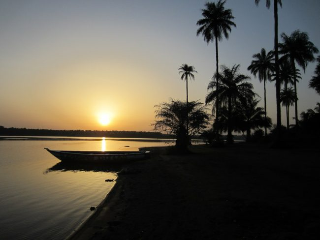 Guinea beach sunset