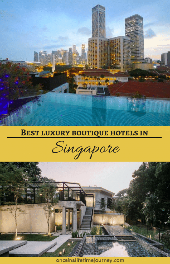 Luxury boutique hotels in Singapore