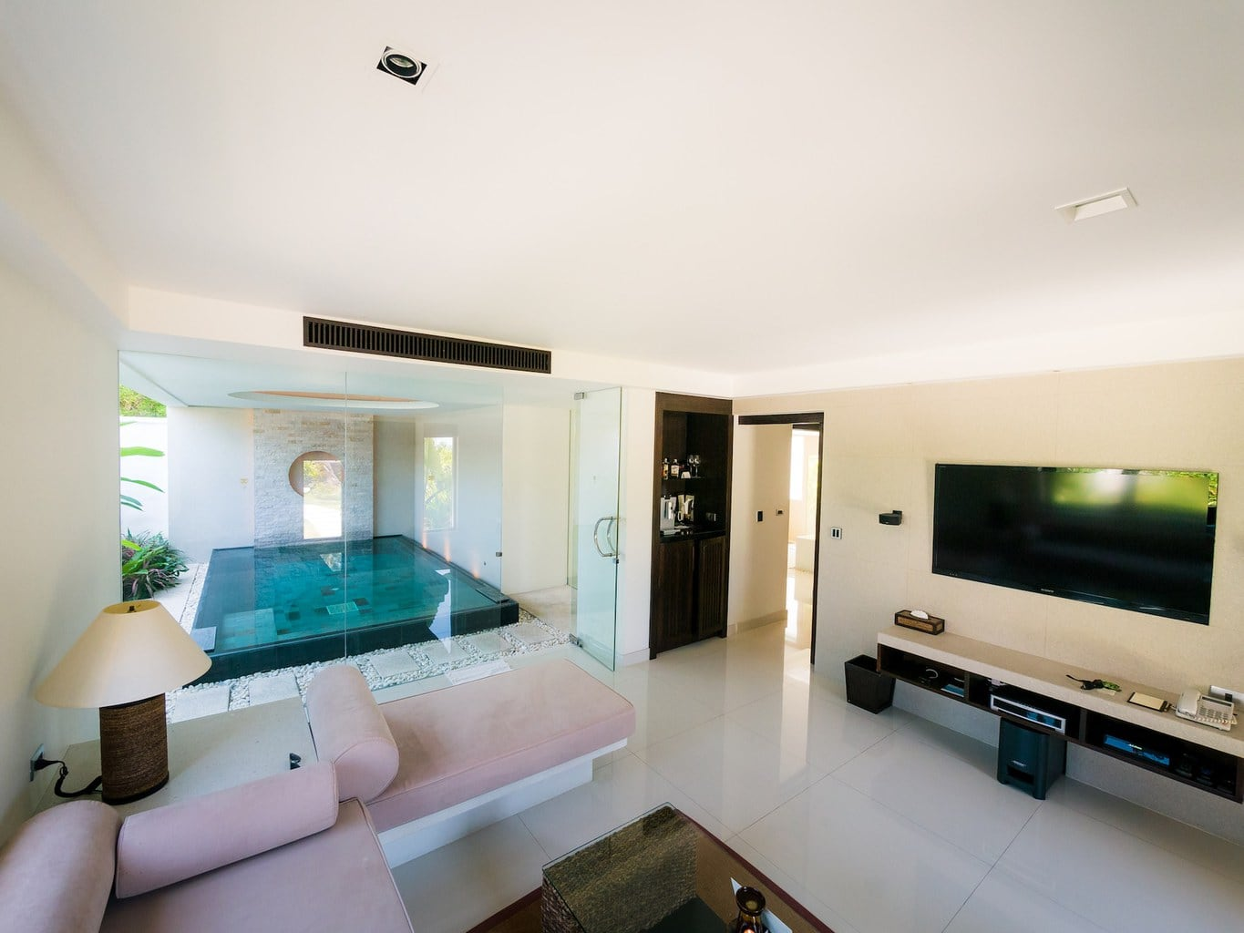View from inside our Spa Pool Villa Room