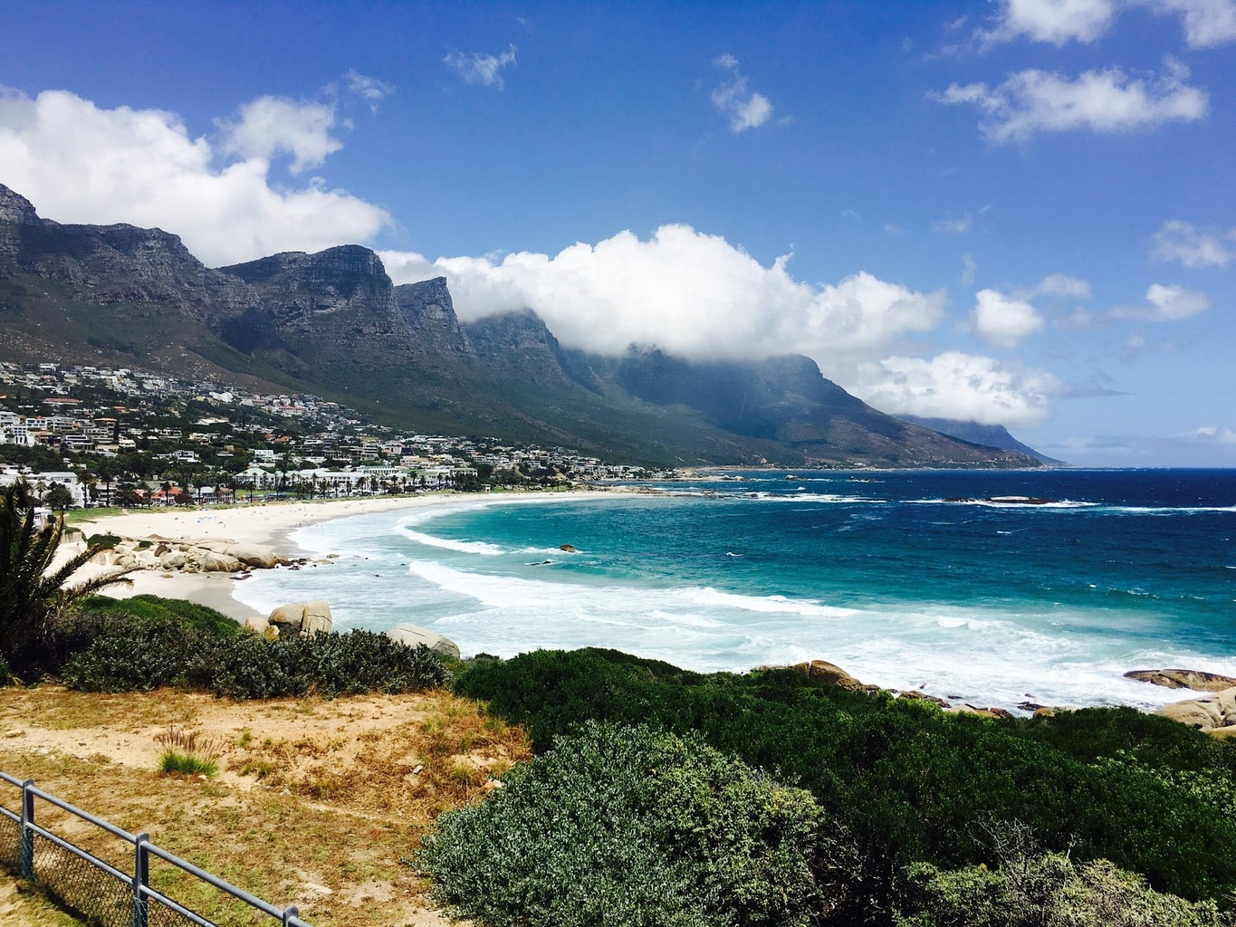 The white sand beaches of Camps Bay