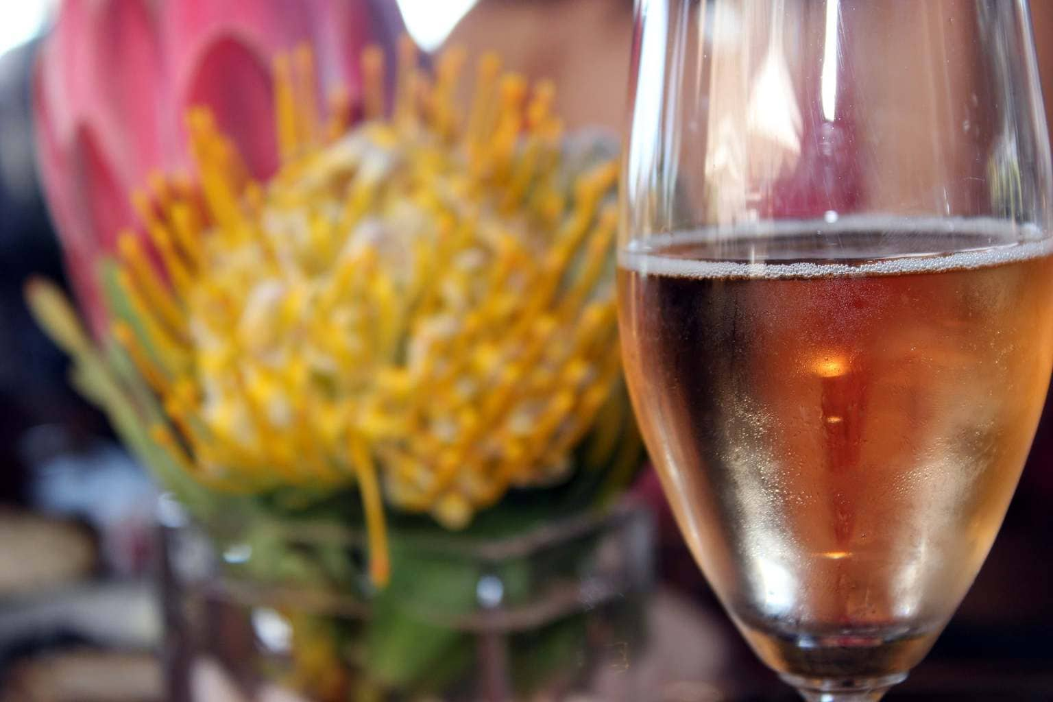 Guide to Cape Town Enjoy a glass of pink bubbly