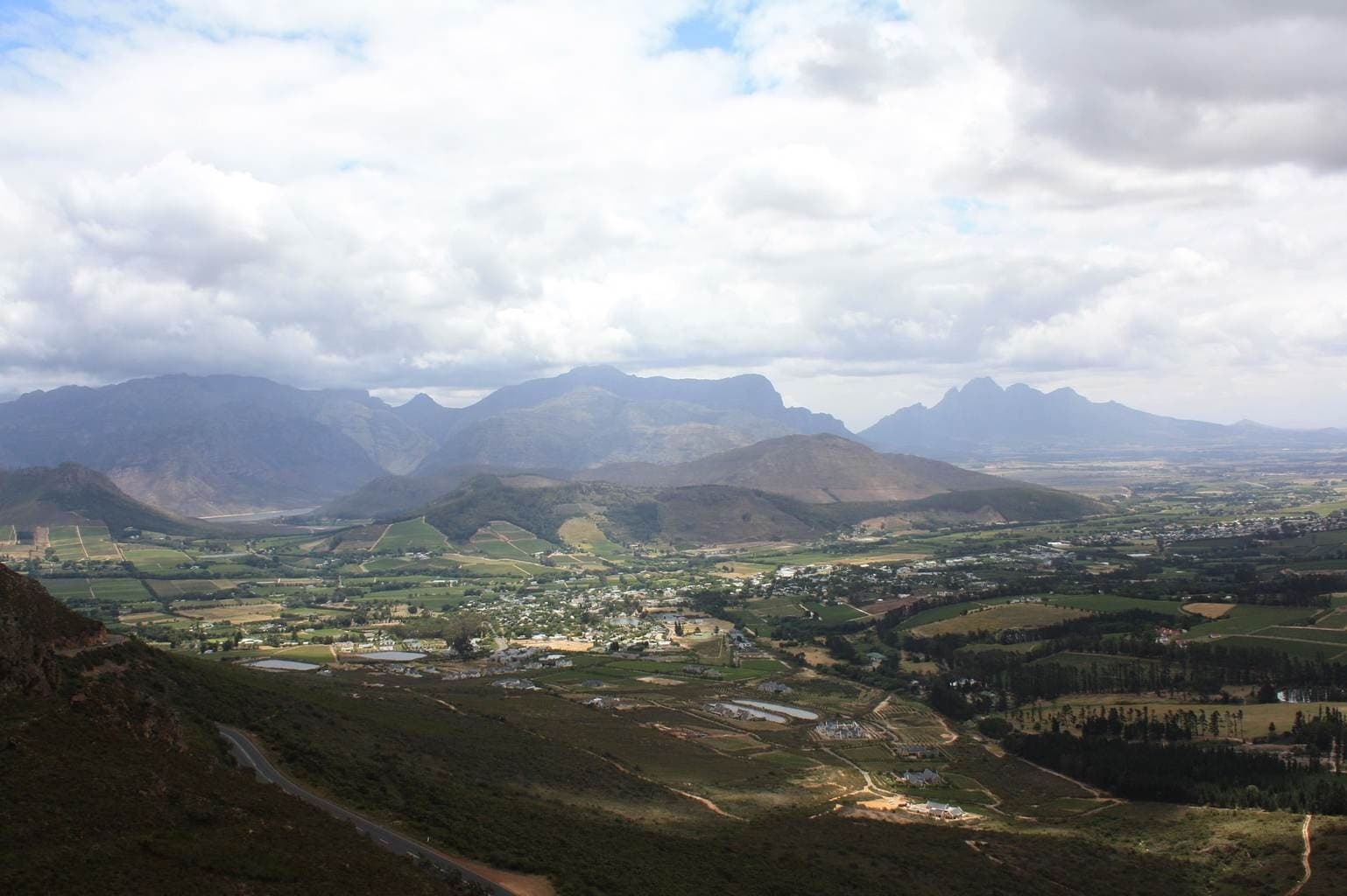 The Franschoek wine valley
