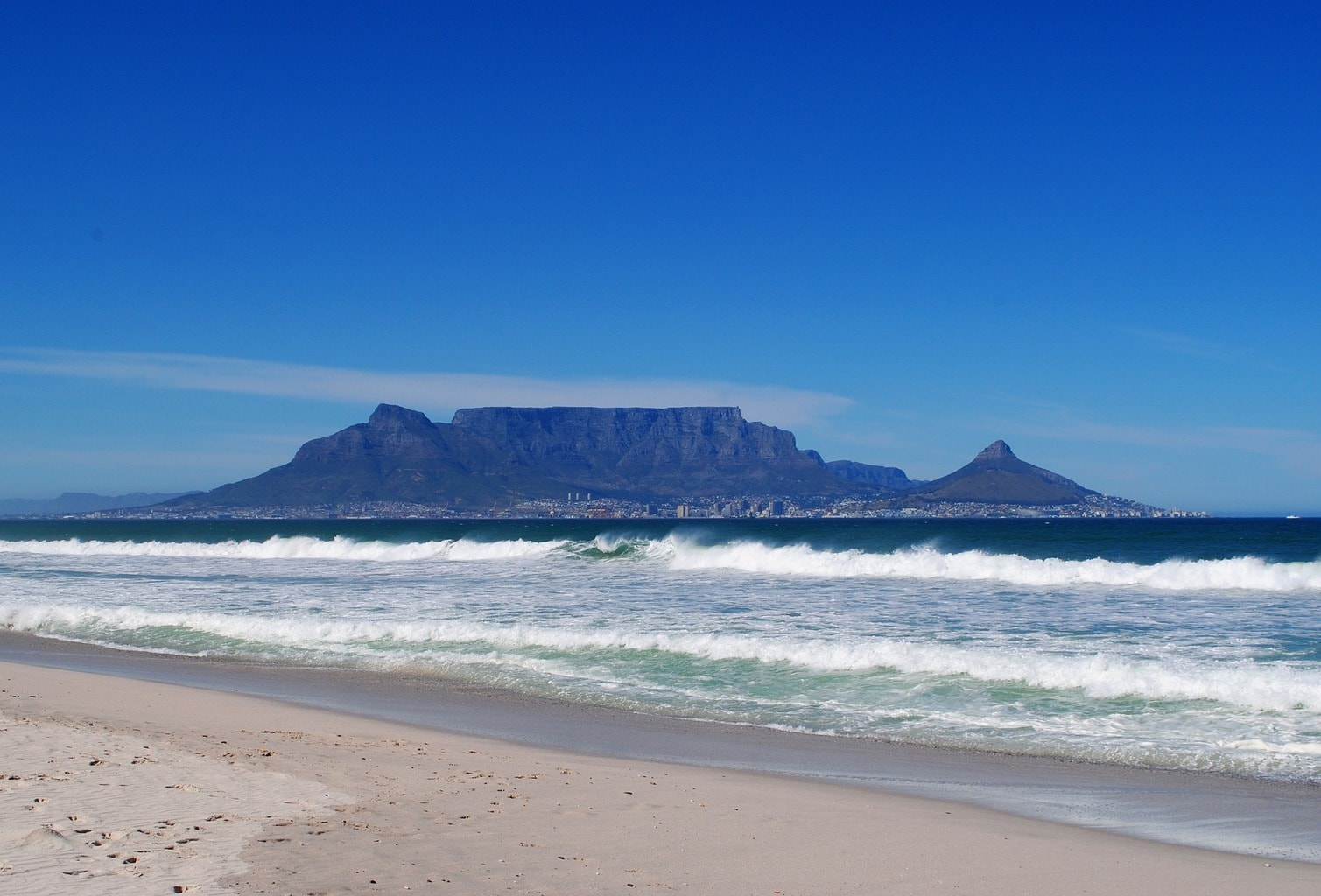 Table Mountain from the West Coast