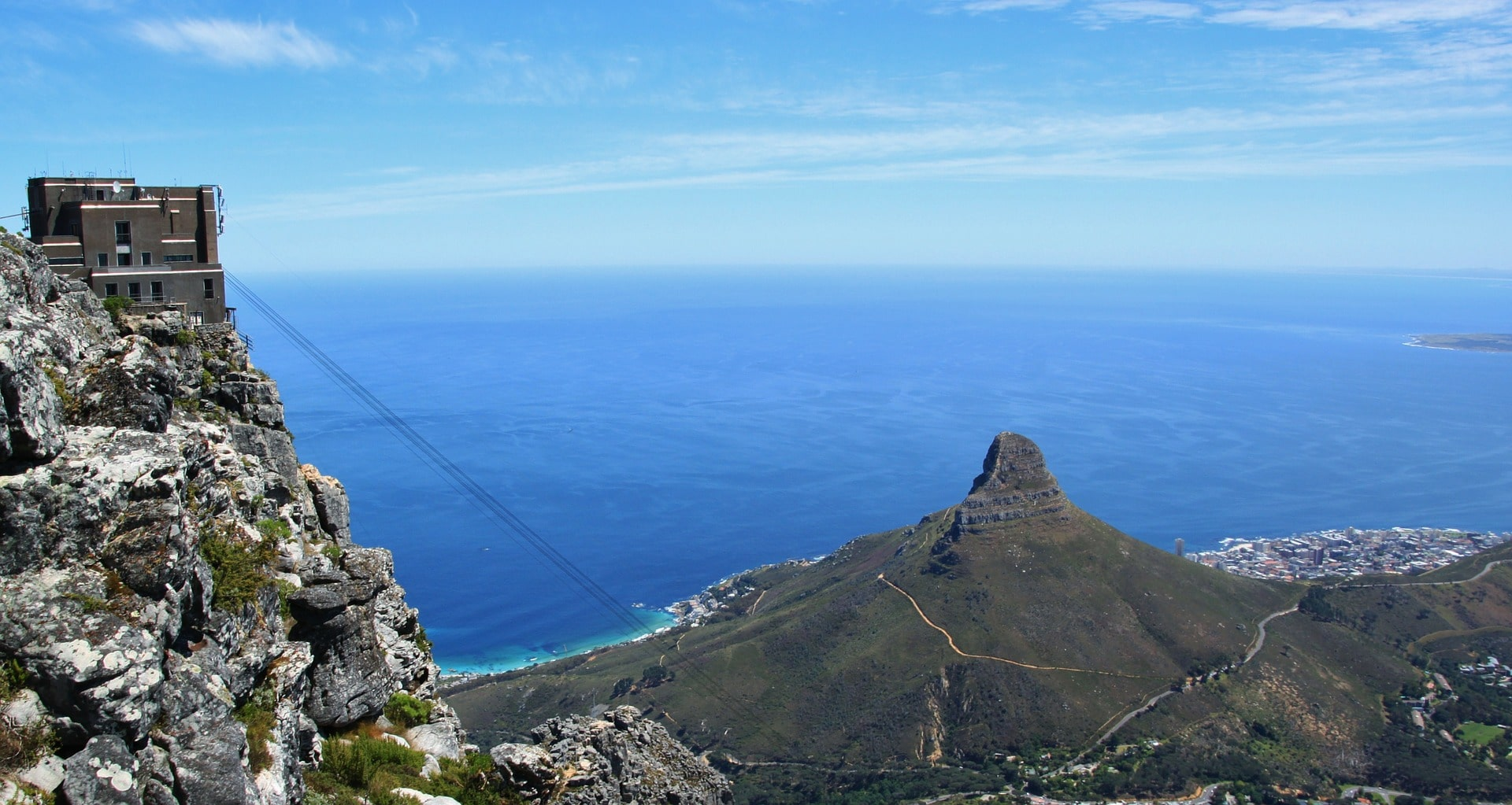 View of Lion's Head from the cable car station
