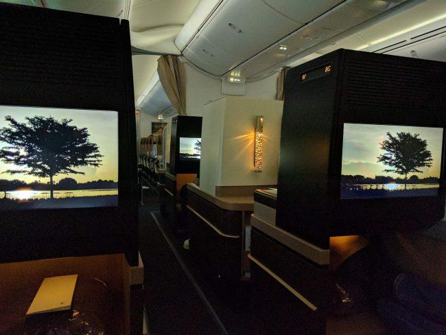 Finally onboard the Etihad A380 Business Class