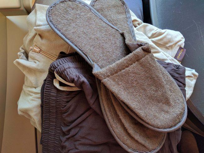 Pajamas and slippers