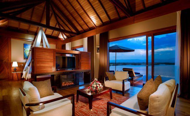 Interior of the lake villa