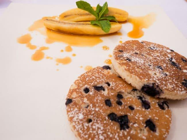 Pancakes and banana