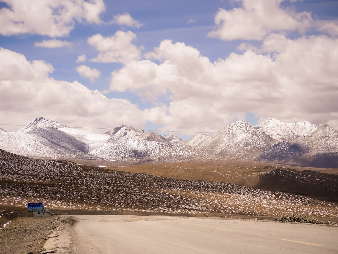 The road to the Himalayas