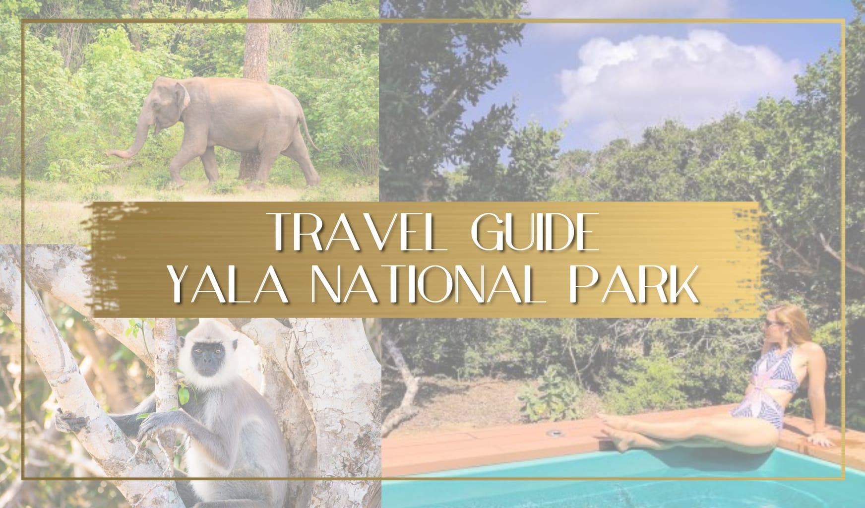 Travel guide to Yala National Park Sri Lanka main