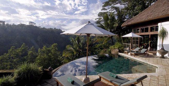 Villa Melati pool view