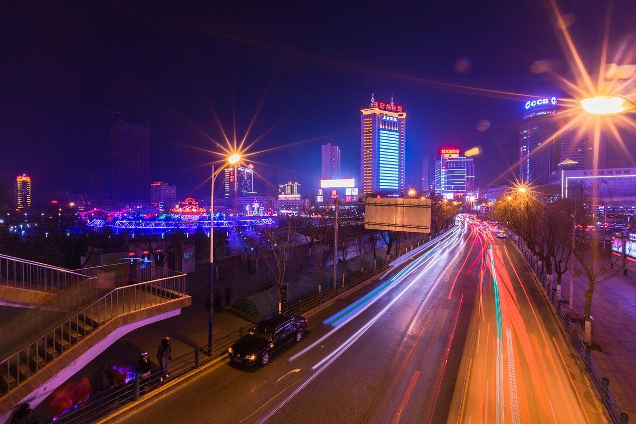 Xining at night