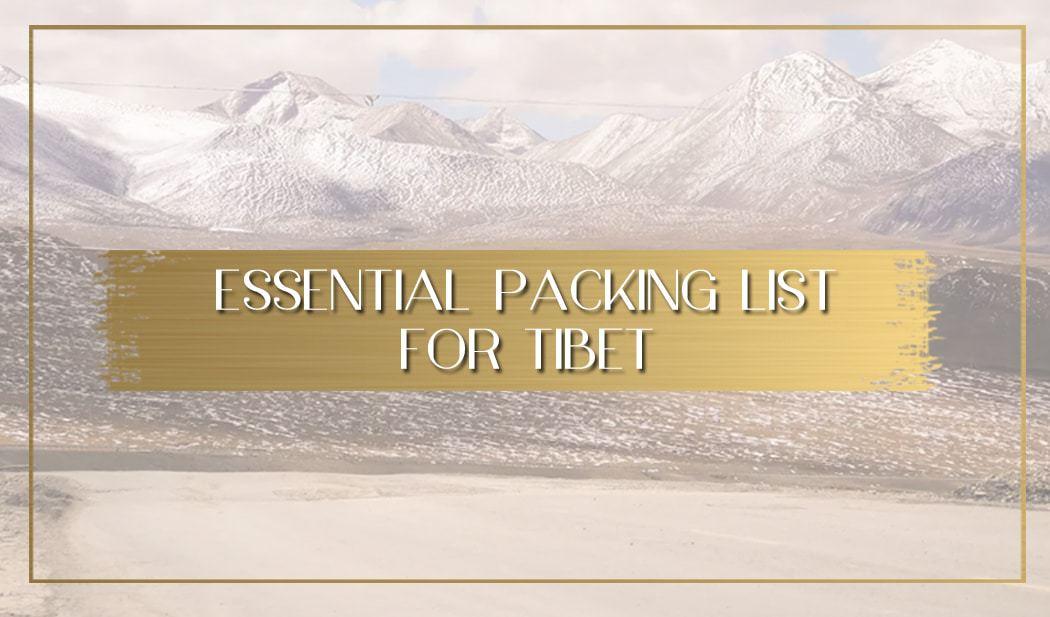 Packing list for Tibet main