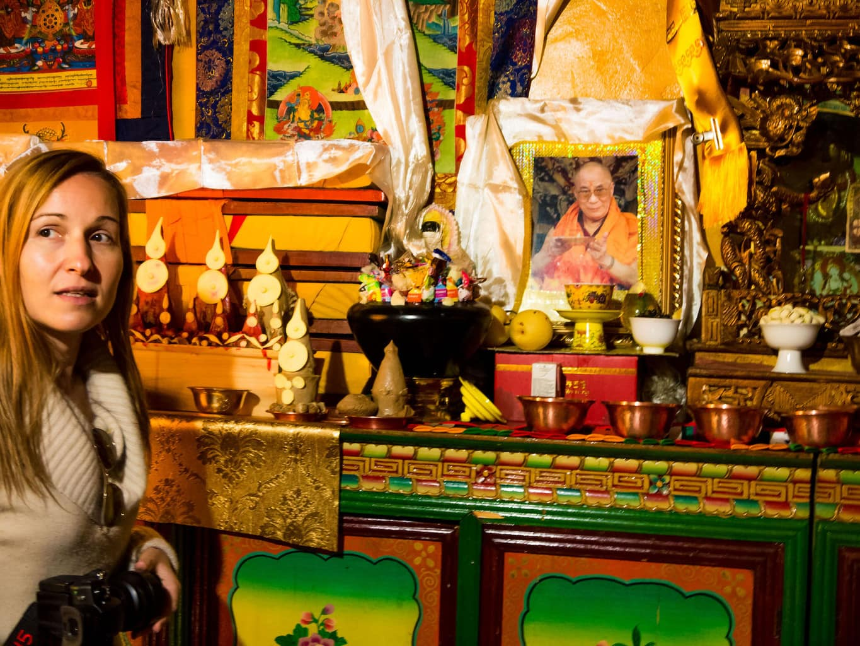 Forbidden image of Dalai Lama